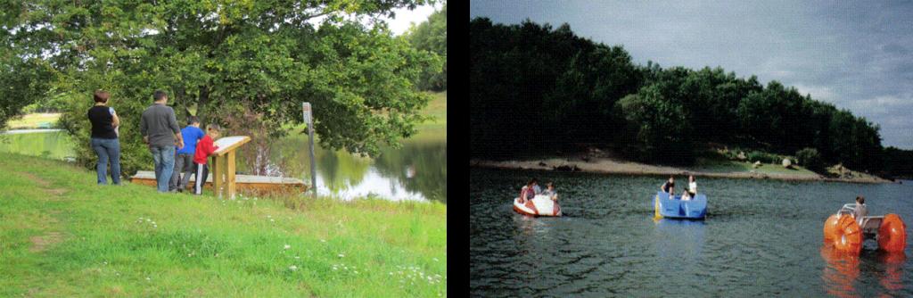 Balade, pédalo au Lac du Graon