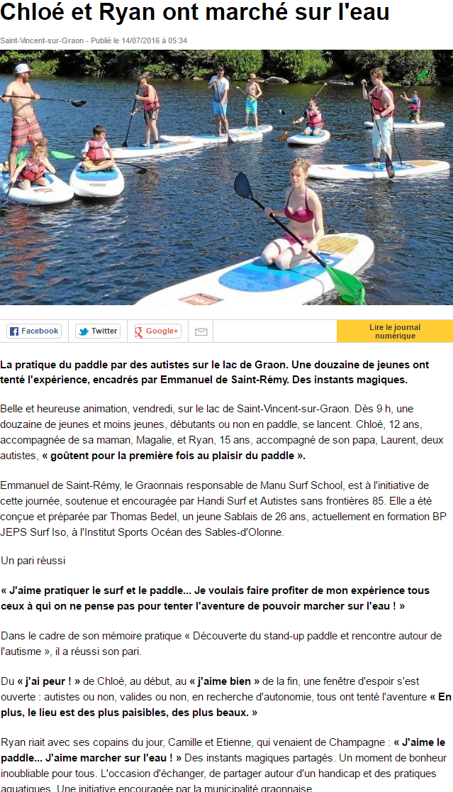 Ouest France 14 juillet 2016